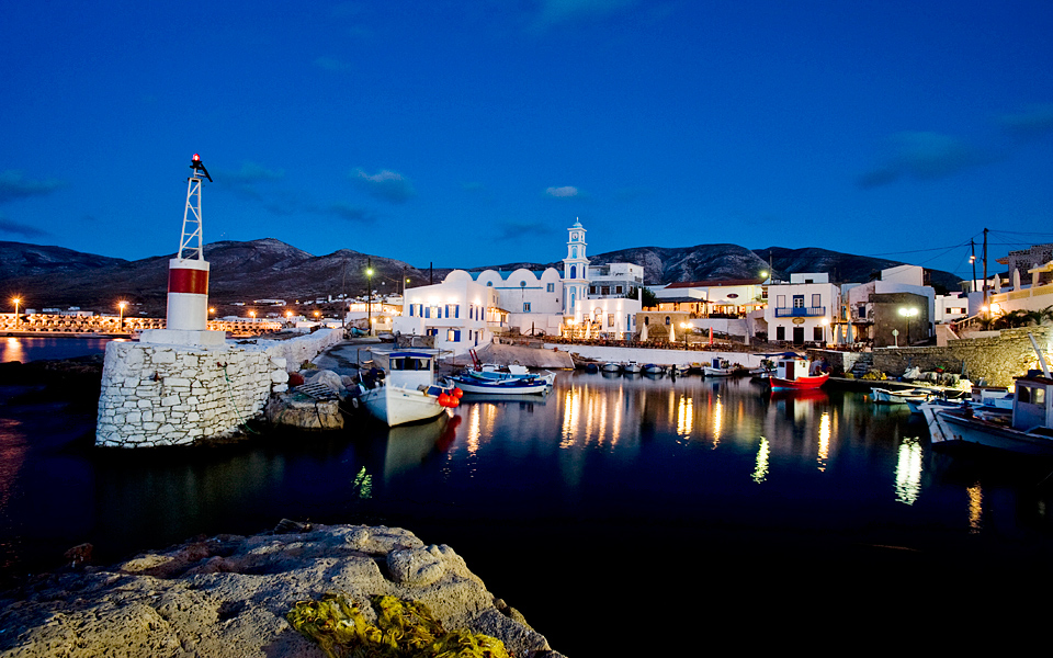 The picturesque old port of Bouka which dates from pre-Ottoman times.