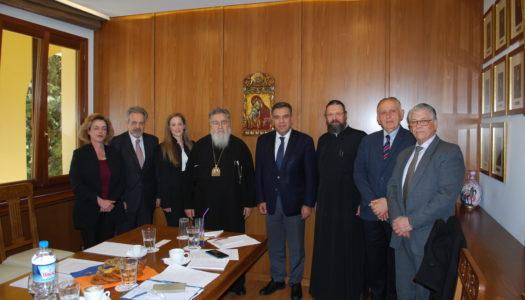 Συνάντηση του Τομεάρχη Τουρισμού της Ν.Δ. κ. Μάνου Κόνσολα για την ανάπτυξη του θρησκευτικού τουρισμού με τον Μητροπολίτη Δωδώνης και μέλη του Συνοδικού Γραφείου