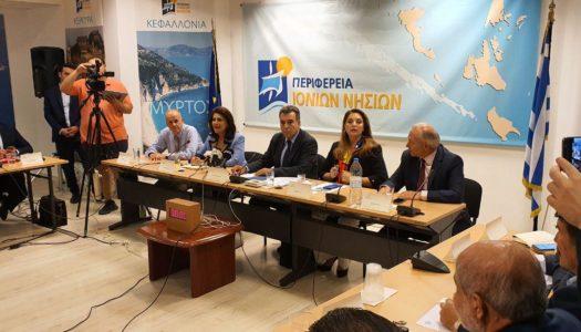 Eπίσκεψη Υφυπουργού Τουρισμού Μάνου Κόνσολα, Γενικού Γραμματέα Υπουργείου Κωνσταντίνου Λούλη και Προέδρου ΕΟΤ Αντζελας Γκερέκου στην Κέρκυρα