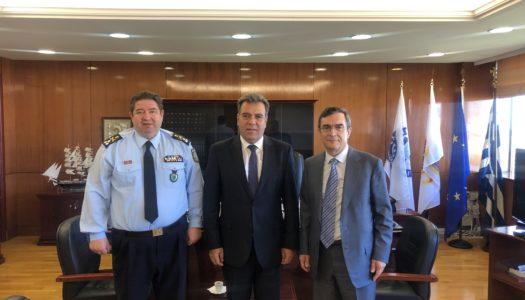 Συνάντηση του Υφυπουργού Τουρισμού Μάνου Κόνσολα με τον Υφυπουργό Προστασίας του Πολίτη, Λευτέρη Οικονόμου και τον Αρχηγό της Ελληνικής Αστυνομίας, Μιχαήλ Καραμαλάκη.