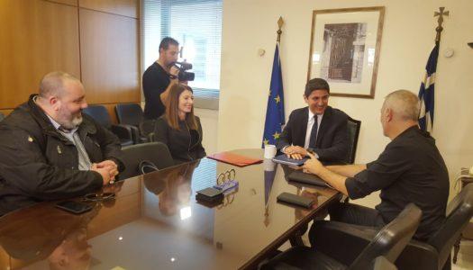 Ο Υφυπουργός Πολιτισμού και Αθλητισμού, Λευτέρης Αυγενάκης, συναντήθηκε με αντιπροσωπεία της ΠΑΕ Ολυμπιακός