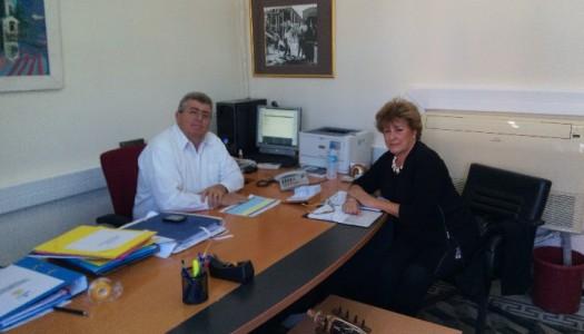 Επίσκεψη της δημάρχου Κάσου Μαρίας Τσανάκη στον Φιλήμονα Ζαννετίδη