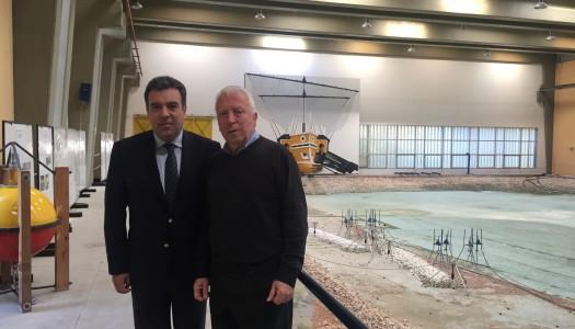 Συνάντηση του Μάνου Κόνσολα με τον Πρόεδρο της Ρυθμιστικής Αρχής Λιμένων, κ. Μουτζούρη, για το λιμάνι της Καρπάθου
