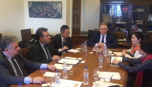 Συνάντηση του Τομεάρχη Τουρισμού της Ν.Δ., κ. Κόνσολα για την Ελληνοκινεζική επενδυτική συνεργασία στον τουρισμό και το άνοιγμα της τουριστικής αγοράς της Κίνας