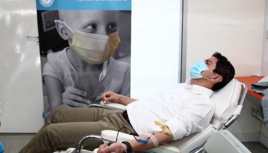 Αθρόα η συμμετοχή στην εθελοντική αιμοδοσία στο ΕΑΚΝ Αγ. Κοσμά