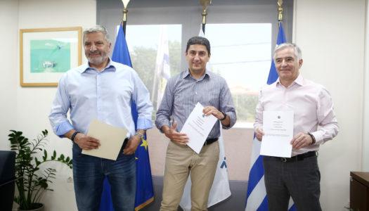 Υπογράφηκε το «Σύμφωνο Συνεργασίας» μεταξύ του Υφυπουργείου Αθλητισμού, της Περιφέρειας Αττικής και του Δήμου Παιανίας για την επαναλειτουργία των δύο Ολυμπιακών κλειστών γυμναστηρίων