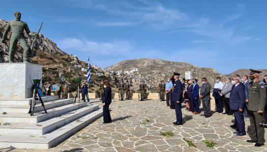 Επίσκεψη του Περιφερειάρχη, Γιώργου Χατζημάρκου στην Κάρπαθο για την 76η επέτειο του Επαναστατικού Απελευθερωτικού Κινήματος