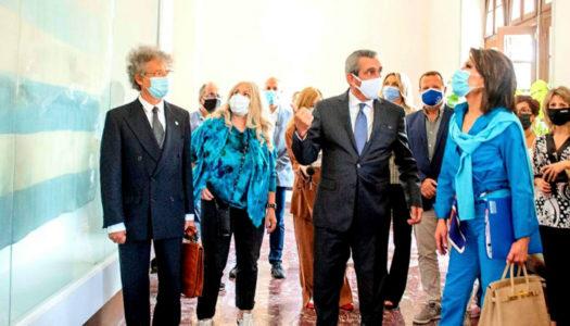 """Την Πρόεδρο του """"Ελλάδα 2021"""" Γιάννα Αγγελοπούλου, υποδέχθηκε ο Περιφερειάρχης Ν. Αιγαίου Γιώργος Χατζημάρκος"""