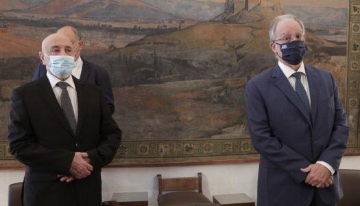Συνάντηση του Προέδρου της Βουλής των Ελλήνων Kων/νο Τασούλα με τον Πρόεδρο της Βουλής της Λιβύης Agila Saleh Issa