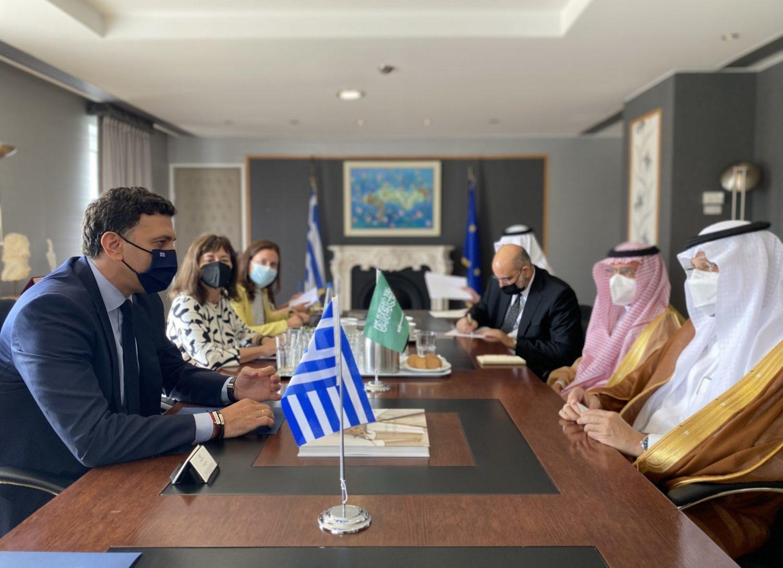 Συνάντηση του Υπουργού Τουρισμού Βασίλη Κικίλια με τον  Υπουργό Επενδύσεων της Σαουδικής Αραβίας Khalid bin Abdulaziz Al-Falih