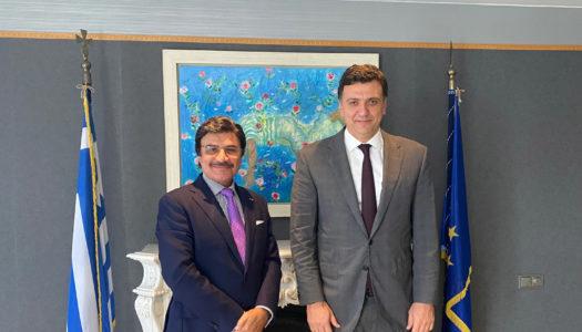 Συνάντηση Υπουργού Τουρισμού Βασίλη Κικίλια με τον Πρέσβη των Ηνωμένων Αραβικών Εμιράτων
